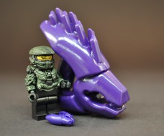 Maybe when he grows up? (BrickArms) Tags: lego halo 3dprinting needler brickarms ultimaker2 acetonevaporsmoothing