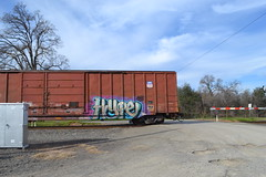 Hype (huntingtherare) Tags: train graffiti crossing hype freight endoftheline rollingstock eot rxr