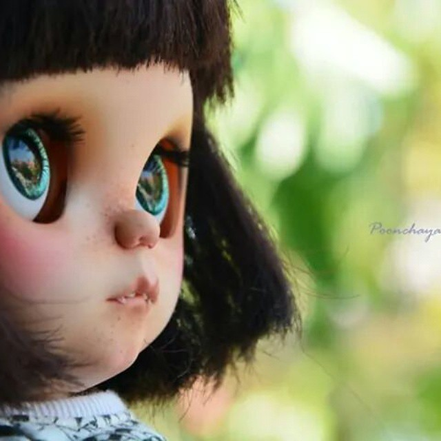 Good morning on friday the 13th. #Happyday #poonchaya #commission. #customblythe #cute #blythe #artwork #airbrush #work