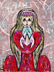 Lady of Heart (she wolf-) Tags: she by digital painting aka wolf m diane kramer dedicatedtothosewhoareill thosewhoarelonely thosewhoareafraid thosewhoneedcomfort