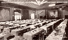 Middleton Tower Holiday Camp - Dining Hall (trainsandstuff) Tags: vintage postcard retro morecambe pontins holidaycamp middletontower