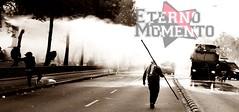 Lindo Momento (EternoMomento1) Tags: santiago calle ciudad gas perros revolucin anarquia piedras marcha manifestacin capucha revuelta pupular