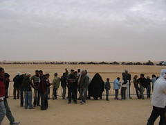 Gathering in Douz for Sahara Festival