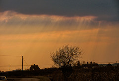 let there be light [explored] (carol_malky) Tags: sunlight clouds dark rays explored