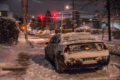 Red Light (John Skelson) Tags: nyc newyorkcity nightphotography snow nikon streetphotography statenisland nightscenes snowscenes lowlightphotography snowphotography johnskelson livingstonstatenisland tamron1750mmvclens lowlighthighisophotography nikond7100 nightsnow030515
