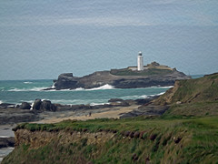 Godrevy NT Landscape Cornwall (Cornishcarolin. Thank you everyone xxxx) Tags: cornwall lighthouses seascapes filters oilpaint oilpaintfilter godrevynt