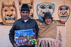 Tigua Painter (mburnand) Tags: family art southamerica painting ecuador loop traditional picture masks andes lama condor quilotoa tigua