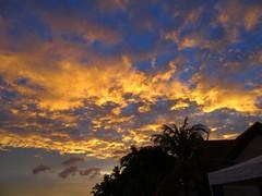 Coucher de soleil à Alona Beach