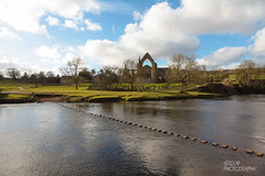 Bolton Abbey & Steeping Stones (Ashey1209) Tags: old trees lake church water abbey landscape ruins yorkshire scenary bolton priory skipton