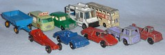 Die Cast Car Purchases (Darth Ray) Tags: hot bus truck toys bottle 21 good wheels humor 64 mg 40 trailer hay float 74 matchbox daimler 1100 commer tootsie