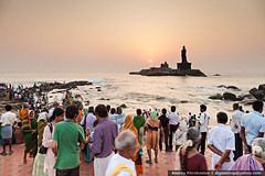 Vivekananda and Thiruvalluvar statues (digitalcrop) Tags: morning travel sunset sea sky cloud india building tourism monument water silhouette statue rock architecture sunrise landscape religious temple memorial scenery asia indian south religion landmarks landmark tourist teacher southern hero idol cape leader hindu hinduism tamil swami pilgrim guru philosopher kanyakumari nadu thiruvalluvar vivekananda kanniyakumari piligrim mandapam comorin