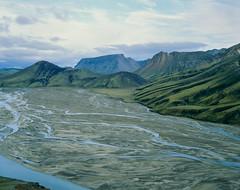 River bed (JaZ99wro) Tags: film analog iceland islandia 4x5 lf e6 largeformat landmannalaugar e100g epsonv750 graflexcrowngraphic tetenal3bathkit exif4film l021a
