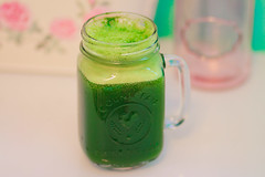 drink your greens! (Shandi-lee) Tags: morning pink food color colour green love cup beautiful vegetables fruit breakfast photography blog vegan healthy bright drink juice vibrant pastel 85mm things foodporn health masonjar foam greens easy veggies 18 miscellaneous kale juicer drinkporn juicing greenjuice tumblr canoneos7d shandilee shandileecox healthspo jugoverde shandileephotography masonjarcup