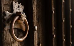 Entrance - All Saints Church, Bakewell (S.R.Murphy) Tags: wood england heritage history texture church circle rust iron bokeh derbyshire ring bakewell churchdoor allsaintschurch feb2015