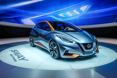 Nissan Sway (Keinsei2) Tags: auto show cars car switzerland fuji nissan suisse expo geneva geneve voiture event fujifilm salon motor autos genve  sway supercar coches automobili palexpo 2015 rassemblement xa1  worldcars