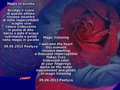 Magia in ascolto (Poetyca) Tags: featured image sfumature poetiche poesia