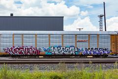 (o texano) Tags: houston texas graffiti trains freights bench benching vrtue werst kazer