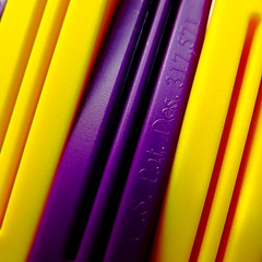 patented (vertblu) Tags: opposites macromondays hmm macromode macro makro yellow purple gelb lila clipclosures snapclosures aglitchinthesystemanabstractviewofdailylife minimalismus minimal minimalism abstract abstrakt abstraction lines diagonal tilted vibrantcolours vibrancy vibrantandminimal vibrantminimalism vividcolours vibrant vertblu 500x500 violet complementarycolours complementarycontrast texture