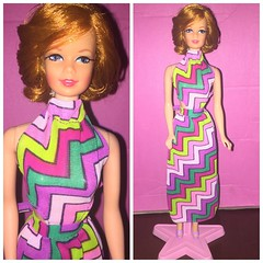 Barbie stacey twist & turn 1967 in Vintage Mod Barbie Doll Best Buy Fashion #8680 (1973) Dress Zigzag Variation (piccolo.ice) Tags: 1973 vintage mod 1969 barbie doll stacey fashions zigzag 8680 bestbuy
