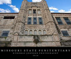 Missouri State Penitentiary Entrance (Thomas  Johnson Photography) Tags: missouri outside outdoors canon digital 40d penitentiary missouristatepenitentiary prison old historic scenic thomasjohnsonphotography thomasjohnsonphotography handbuilt rock tours 2016 state entrance pentours