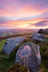 Roaches Colour (matrobinsonphoto) Tags: light sunset summer sky cliff sun sunlight color colour reflection water pool rural landscape puddle outdoors evening countryside rocks colorful view dusk district derbyshire hill rocky peak valley edge colourful moor staffordshire afterglow moorland roaches shuttlingsloe