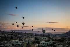 Hot Air Balloons at Sunrise over Goreme (tclemitson) Tags: turkey hotairballoon cappadocia goreme