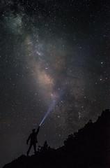 searching stars (ChenLiang0729) Tags: stars starsnight starssky starry starrynight galaxy milkyway nightsky silhouette flashlight light mountains mountainslife hehuanmountain hehuansummer hehuanshan man