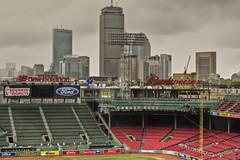 Fenway Skyline (The Byrne Files) Tags: fenwaypark boston thepru prudentialtower peskyspole sky green red blue ballpark redsox rightfield byrneimagescom