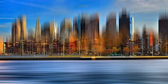 Boston Skyline (xplr) (anj_p) Tags: blurred boston shore skyline colorful panorama downtown skyscrapers