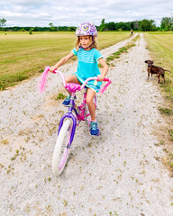 Audrey Rides! (hz536n/George Thomas) Tags: summer copyright bicycle canon michigan july audrey canon5d upnorth prescott 2016 ef1740mmf4lusm cs5