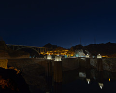 02469221-79-Summer Night at the Hoover Dam-1-HDR (Jim There's things half in shadow and in light) Tags: 2016 america aug hooverdam lakemead nevada places usa canon5dmarkiii summer hdr lights night arazona tamronsp1530mmf28divcusd