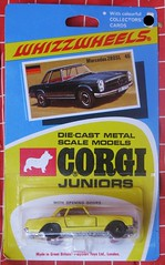 Mercedes (streamer020nl) Tags: auto greatbritain car metal toys corgi models card junior gb 1970 juniors collector diecast jouets speelgoed mettoy whizzwheels