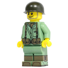 U.S. Marine (X39BrickCustoms .com) Tags: lego legos minifigures ww2 japenese marine us brickarms m1 pot battle peleliu empire united states