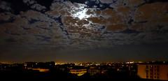Paris at night (mira66) Tags: moon cloud balcony paris france