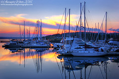 Sunset at Yacht Club (sminky_pinky100 (In and Out)) Tags: dartmouthyachtclub yachts boats sunset novascotia canada water bedfordbasin halifax reflections outdoors scenic landscape pretty colourful still omot cans2s