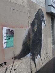 Fais qu'autre chose soit. corbeau de MESA, Paris 11 (Jeanne Menj) Tags: faisquautrechosesoit corbeau mesa paris11 collage streetart