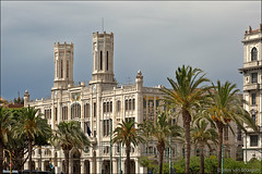 cagliari (heavenuphere) Tags: cagliari sardegna sardinia sardinie italia italy europe island city hall baccaredda palace historic building architecture palm trees 24105mm