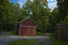Little Red Barn (esmithiii2003) Tags: lehighvalley red barn redbarn road tree sky summer walnuttrees walnut trees countryroad rural