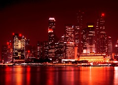 SINGAPORE VIEW (patrick555666751) Tags: singaporeview singapore view lights night noche notte singapura asie asia du sud est south east flickr heart group rot rood rouge rojo rosso red