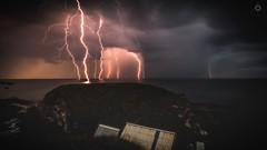 Light 'em if you got 'em! (Augmented Reality Images (Getty Contributor)) Tags: adobe blend canon clouds landscape lightning lightroom longexposure morayshire photoshop portknockie scotland seascape storm water