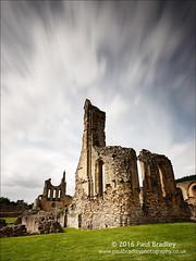 Byland Abbey - looking west (ScudMonkey) Tags: bylandabbey c2016paulbradley westfront church southtransept ruin abandoned cistercian neengland thirsk englishheritage northyorkshire history heritage landscape slowshutter canon 6d ef1740mmf4l bw nd1000 nd110