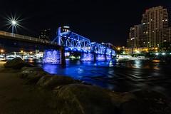 Blue Bridge (lup) Tags: bluebridge grandriver michigan grandrapids water longexposure starbursts canoneos6d canon eos 6d canonef1740mmf4 canon1740mm f4