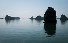 Morning on Ha Long Bay (Maren 86) Tags: vietnam asia travel water ocean sea karsts hills mountains landscape reflection lumixg7 microfourthirds