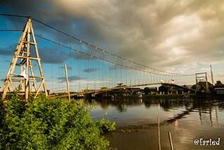 small suspension bridge in my hometown