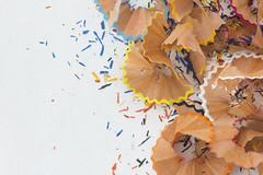 Vivid colours (Valentina Conte) Tags: vivid macromondays thefirstletterofmyname macro pencil tip shavings drawing school colours sharpen whitebackground valentinaconte canon100d rebelsl1