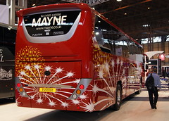 Mayne Volvo B11R Plaxton Panther (chrisbell50000) Tags: show uk england bus volvo back coach birmingham expo euro centre united rear transport kingdom exhibition deck national single end passenger panther mayne nec midlands decker 2014 plaxton b11r chrisbellphotocom eurobusexpo2014