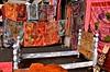 from India, flea market (David McSpadden) Tags: newyorkcity red farmersmarket cloth fleamarket brightlycolored newyorkwestside eastindianbooth