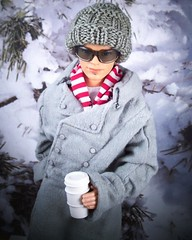 Bundle up! (partymonstrrrr) Tags: winter boy snow male coffee toy toys doll dolls barbie pullip basics blaine zuora generationgirl 7toys7