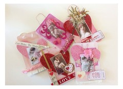 Valentines For Friends 2015 (born 2 b creative) Tags: art love collage glitter paper heart handmade mixedmedia craft valentine creation card gift valentinesday papercraft valentinecard 2015
