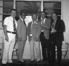 "Pioneers Spring Meeting 1975-Buck Buchanan (Dir.,Barnett Bank), Judge Roger Dykes, Lee Hipp, Dave Nesbit, Bill Sheahan BARNETT BANK SUITE <a style=""margin-left:10px; font-size:0.8em;"" href=""http://www.flickr.com/photos/130192077@N04/15791631373/"" target=""_blank"">@flickr</a>"